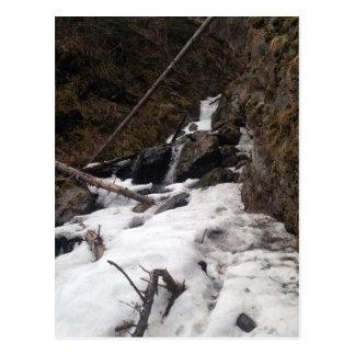 Caídas congeladas Alaska del pionero de la cascada Postales