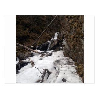 Caídas congeladas Alaska del pionero de la cascada Tarjeta Postal