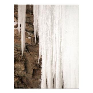 Caídas congeladas membrete a diseño