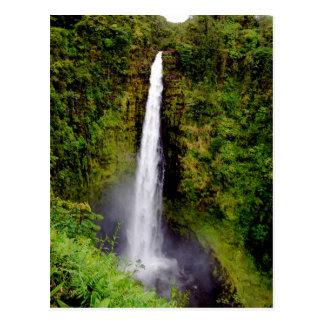 Caídas de Akaka de la cascada de Hawaii Postales