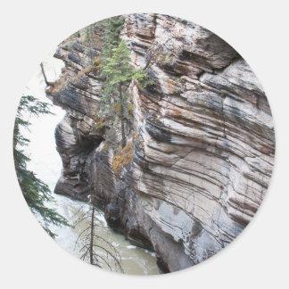 Caídas de Athabasca Pegatina Redonda