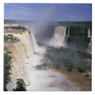 Caídas de Iguacu, el Brasil Azulejo Cuadrado Grande