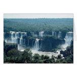 Caídas de Iguacu, Paraná, el Brasil Felicitación