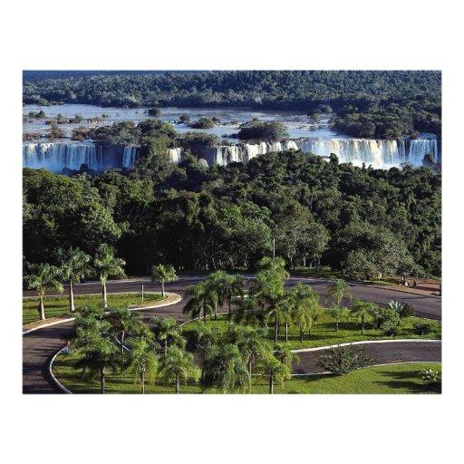 Caídas de Iguassu, el Brasil Flyer A Todo Color