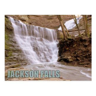 Caídas de Jackson, ruta verde del rastro de Natche Tarjeta Postal