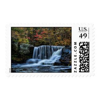 Caídas de la fábrica timbre postal