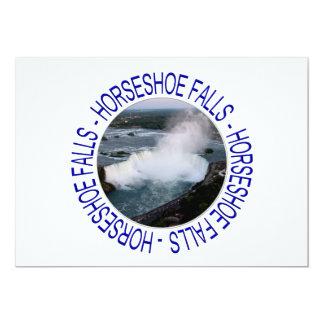 """Caídas de la herradura - Niagara Falls, Canadá Invitación 5"""" X 7"""""""