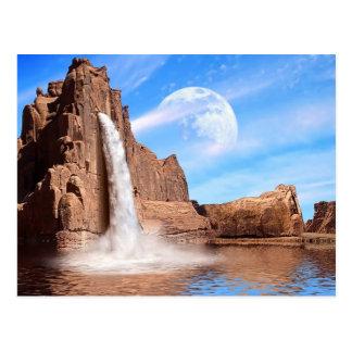 Caídas de la roca tarjetas postales