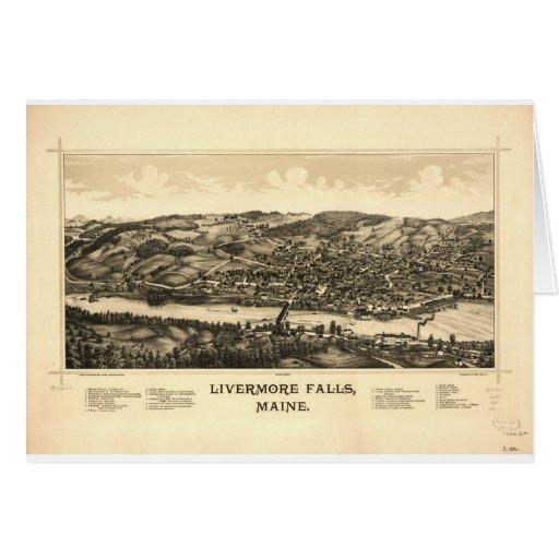 Caídas de Livermore, Maine en 1889 Tarjeta De Felicitación