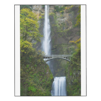 Caídas de Multnomah, Oregon Impresión En Madera