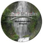 Caídas de Multnomah, Oregon Plato De Cerámica
