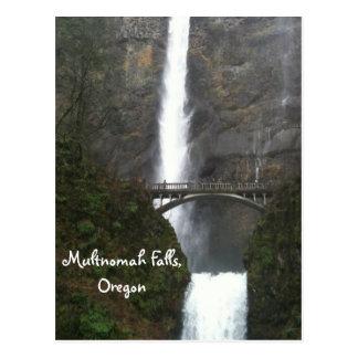 Caídas de Multnomah, Oregon Tarjeta Postal