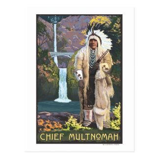 Caídas de Multnomah, OregonChief Multnomah Postales