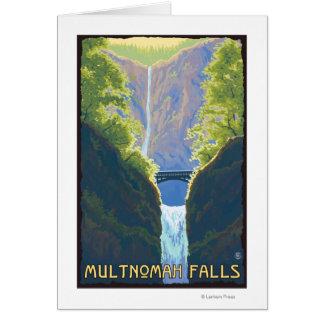 Caídas de Multnomah, OregonMaiden de las caídas Tarjeta De Felicitación