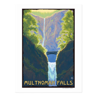 Caídas de Multnomah OregonMaiden de las caídas Postales