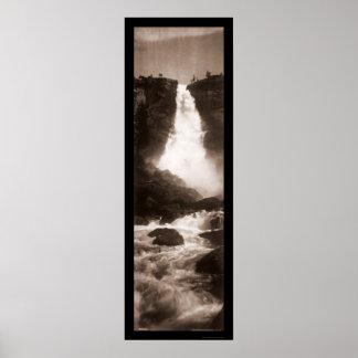 Caídas de Nevada foto 1907 de Yosemite Poster