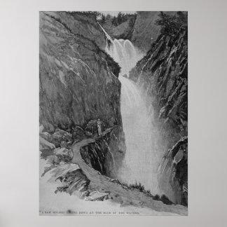 Caídas de Reichenbach - Sidney Paget Póster