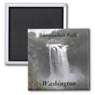 Caídas de Snoqualmie, foto del viaje de Washington Imán Cuadrado