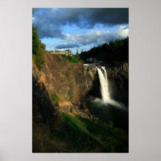 Caídas de Snoqualmie, Washington, los E.E.U.U. Póster