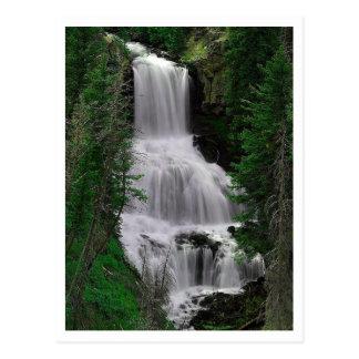 Caídas de Udine, parque de Yellowstone, postal de