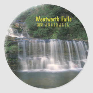 Caídas de Wentworth. Australia Pegatina Redonda