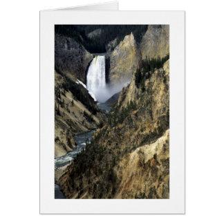 Caídas de Yellowstone Felicitación