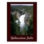 Caídas de Yellowstone Tarjeta Postal