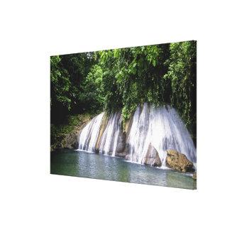 Caídas del alcance, puerto Antonio, Jamaica Impresión En Lona