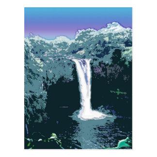 Caídas del arco iris, Hawaii Tarjeta Postal