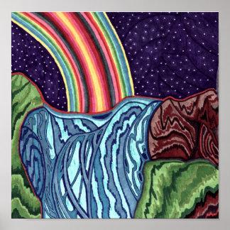 Caídas del arco iris impresiones