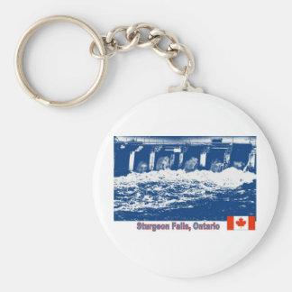 Caídas del esturión, Ontario Llavero Redondo Tipo Pin