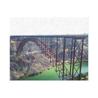 Caídas del gemelo del puente de Perrine, Impresiones En Lienzo Estiradas