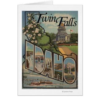 Caídas del gemelo, Idaho - escenas grandes de la l Tarjeta De Felicitación