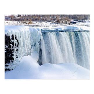 Caídas del invierno: Postal de Niagara Falls
