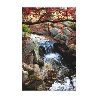 Caídas del otoño impresión en lona estirada