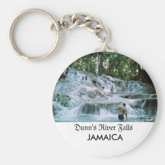 Caídas del río de Dunn Llavero Redondo Tipo Pin