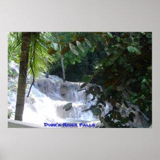 Caídas del río de Dunn Póster