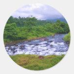 Caídas del río etiqueta redonda