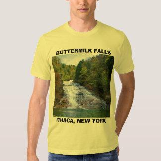 CAÍDAS del SUERO, camiseta de ITHACA, NUEVA YORK Playera