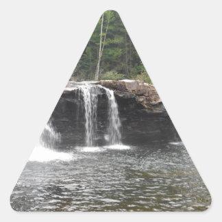 Caídas del tramposo pegatina triangular