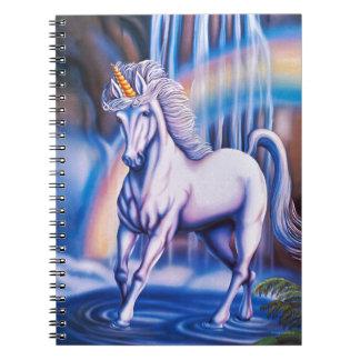 Caídas del unicornio libros de apuntes con espiral