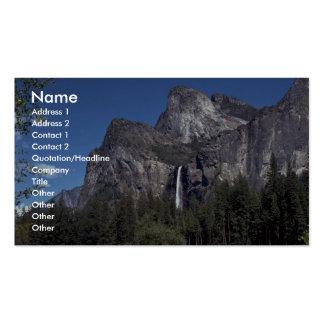 Caídas del valle de Yosemite, los E.E.U.U. Tarjetas Personales
