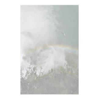 Caídas elegantes del arco iris de los efectos de e personalized stationery