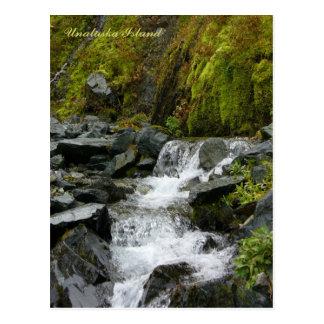 Caídas escénicas de la cala, isla de Unalaska Tarjetas Postales