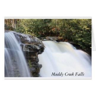 Caídas fangosas de la cala tarjeta de felicitación