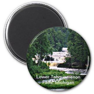 Caídas más bajas de Tahquamenon, Michigan Imán Redondo 5 Cm