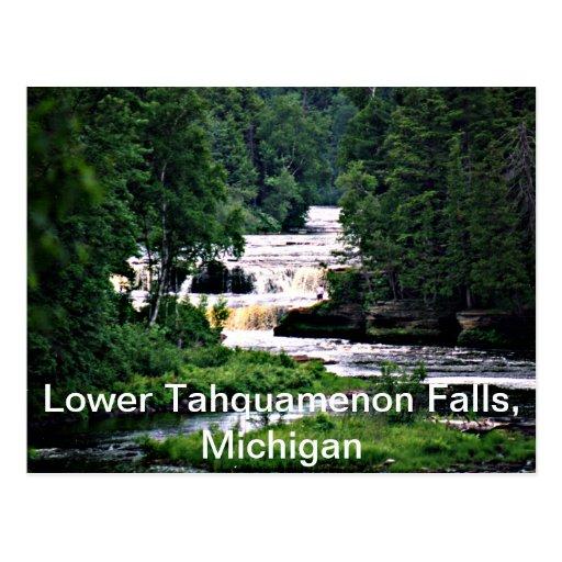 Caídas más bajas de Tahquamenon, Michigan Postales