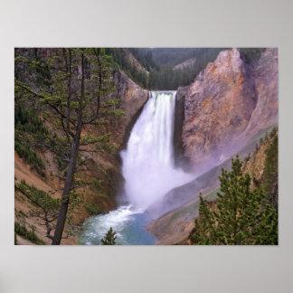 Caídas más bajas de Yellowstone Gran Cañón de Impresiones