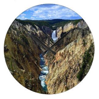 Caídas más bajas de Yellowstone Reloj Redondo Grande