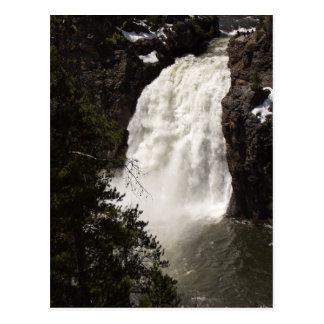Caídas más bajas de Yellowstone Tarjeta Postal